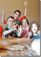 McGill kids in Bread Dough